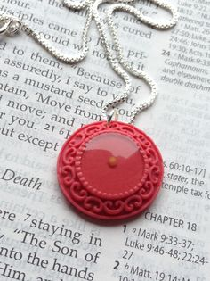 Mustard Seed Necklace  Matthew 17 20  Christian by MinsBoutique, $17.00