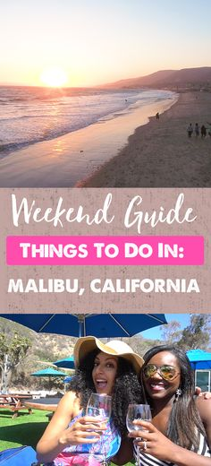 Quick weekend trips are very necessary to getaway from the daily grind every now and then. Here's how my friends and I spent ours in Malibu, California! Malibu California, California Travel, Weekend Trips, Weekend Getaways, Malibu Wines, Places To Travel, Places To Visit, Travel Couple, Travel Usa