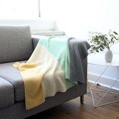 koko's nest | Modern Heirloom baby blanket GRAYS