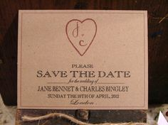 Unique Save the Date Cards  chic heart deposit to by sweetcookie, $50.00