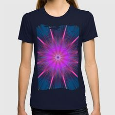 Artistic bright shining abstract star T-shirt