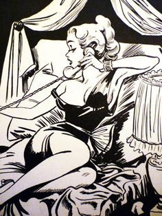 Pin-up art by Arthur Ferrier 1940s