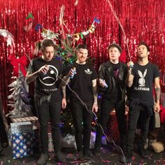 fall out boyits christmas and they are all wearing black boy bands - Fall Out Boy Christmas