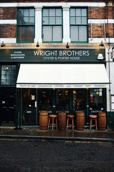 Wright Brothers Oyster & Porter House | Borough Market, London // ed + bm