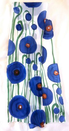 Silk Scarf Handpainted Gift for her Christmas by SilkScarvesTakuyo