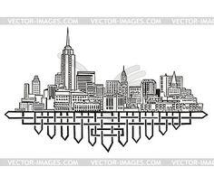 Skyline von New York - Vektor-Skizze