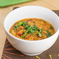 Mexican Red Lentil Stew with Lime and Cilantro - a simple and flavorful bowl of comfort!