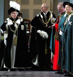 Highest honor: The Queen and the Duke of Edinburgh, attend the service of the 'Installation of the Knights of the Thistle' at St Giles Cathedral in Edinburgh in 2003