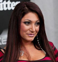 Deena Cortese rocks super-long straight hair