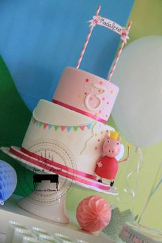 Peppa Pig Themed Birthday Party via Kara's Party Ideas KarasPartyIdeas.com The Place for ALL Things Party! #peppapig #peppapigparty #peppapigpartyideas (13)