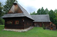 Museum of Slovak Villages, Martin, SK Traditional House, Bananas, Interior And Exterior, Buildings, Museum, Cabin, House Styles, Home, Kitchens
