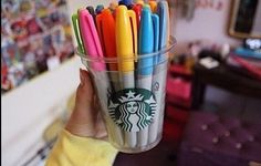 Sharpies are bae, Starbucks is bae, together they are more than words can explain<3