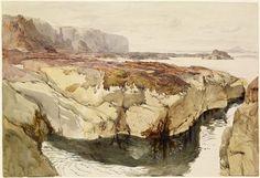 John Ruskin - Coast Scene near Dunbar 1847