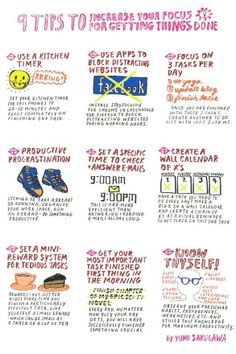 Tips for being productive-- Would like to incorporate a few of these in both mine and Sean's daily lives! #GiantCalendar