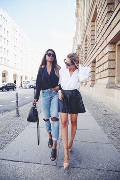 Pleated Leather Skirt + Heels                                                                                                                                                                                 More