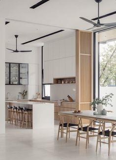 Modern Japanese Interior, Japanese Home Decor, Japanese Living Rooms, Japanese Kitchen, Minimalist Home Interior, Scandinavian Home Interiors, Wood Interiors, Muji Home, Interior Design Kitchen