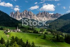 Funes Valley (St. Magdalene) Royalty Free Stock Photo
