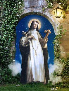St. Rose of Lima print Catholic art 8x10 or