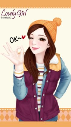 Find images and videos about girl, cute and kawaii on We Heart It - the app to get lost in what you love. Cartoon Girl Images, Cute Cartoon Girl, Cute Love Cartoons, Cute Girl Photo, Beautiful Girl Image, Beautiful Beautiful, Cute Kawaii Girl, Cute Baby Girl, Big Eyes Artist