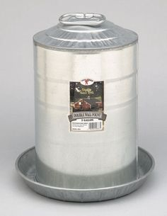 Galvanized 3 Gallon Waterer