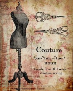 French couture, Laminas decoupage