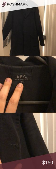 APC duffle coat APC hooded duffle coat. Used condition. Missing button. Slight fray on adjacent button hole A.P.C. Jackets & Coats