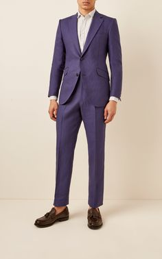 Founded by Nicolas Gabard with the intent to take vintage-inspired silhouettes and recreate them for the modern man, Husbands Paris curates suits that'll last season after season. Warm Outfits, Winter Outfits, Mohair Suit, Modern Man, White Cotton, Silhouettes, Vintage Inspired, Suit Jacket, Husband