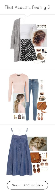 """""""That Acoustic Feeling 2"""" by somethinglikelove ❤ liked on Polyvore featuring Reneeze, Boohoo, Banana Republic, Wet Seal, Ace, Clé de Peau Beauté, Chanel, Gabriela Artigas, Minor Obsessions and Satomi Kawakita"""