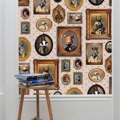 Our Graduate Collection Portrait Gallery Wallpaper designed by Charlotte Cory will add a great conversation piece to your home.