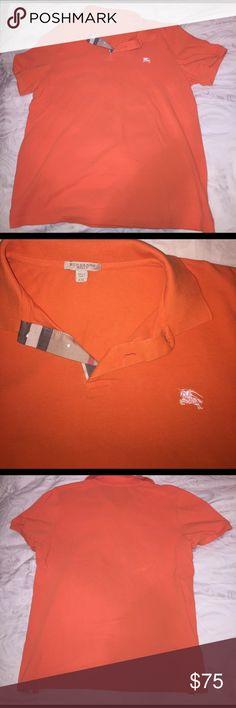 Burberry men's shirt Orange men's Burberry collared shirt XXL Burberry Shirts Polos