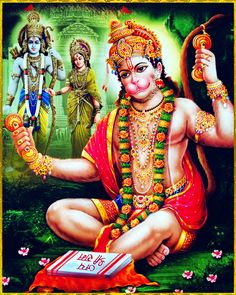 """☀ SITA RAM HANUMAN ॐ ☀ """"Since the living entity is associated with material nature, he is in an awkward position, but if in the human form of life he is taught how to associate with the Supreme Personality of Godhead or His devotee, this position can. Hanuman Murti, Hanuman Jayanthi, Yashoda Krishna, Krishna Radha, Hanuman Ji Wallpapers, Rama Lord, Hanuman Images, Hindu Art, Indian Gods"""