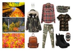 """""""Oregon Autumn"""" by creation-gallery ❤ liked on Polyvore featuring Bullet, FOSSIL and vintage"""