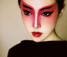 Geisha makeup. FLAWLESS blending. Asian makeup. Inspiration