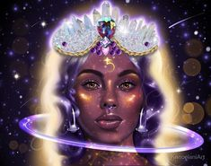 I was feeling really inspired when the Saturn retrograde finally ended this year. So thus this painting was created. Digital Portrait, Portrait Art, Canvas Prints, Framed Prints, Art Prints, Artist Alley, Galaxy Art, Types Of Art, Long Hoodie