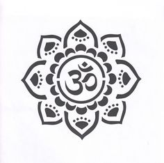 ©The Bead Source - Yoga Om Mandala mylar stencil offered in sizes from to / a Mehndi inspired design that you will love creating with / painting on wood, canvas, fabrics precision cut for you on reusable Duralar, a high performance clear polyester film Mandala Tattoo Design, Dotwork Tattoo Mandala, Tattoo Designs, Ohm Tattoo, Symbol Tattoos, Namaste Tattoo, Tattoo Symbols, Henna Tatoos, Yoga Tattoos