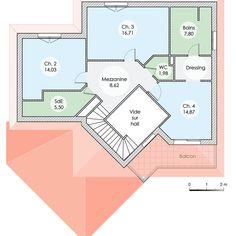 Plans de maison rdc du mod le diamant maison moderne tage de 125m2 avec piscine 2 - Cuisine darty modele sorbonne ...
