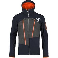 Ortovox developed the Men's Pordoi Hooded Softshell Jacket for backcountry skiers who really get after it. This technical softshell boasts a merino wool lining and Schoeller's C_Change membrane for outstanding temperature regulation. The membrane and lining close their pores in the face of cold temperatures, but open up as soon as you start warming the fabric up on hot and sweaty skinners. Merino wool is also naturally odor-resistant, so the jacket won't smell like you do after a long day in…