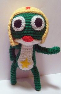 Keroro Gunso (Sgt Frog) Amigurumi with Pattern - If you haven't met him yet, check him out on Netflix.