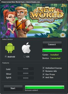 Shipwrecked New World Hack - Android and iOS Game Cheats  http://downcheats.com/shipwrecked-new-world-hack-android-and-ios-game-cheats/