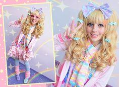 Pastel lover ❤ (by Kakao ❤) http://lookbook.nu/look/3889376-Angelic-Pretty-Lavender-Headbow-Handmade-Pastel