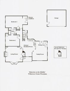 malcolm in the middle Sims House Plans, House Floor Plans, The Middle Tv Show, Tv Show House, Garage Addition, Architecture Plan, Family Room, Tv Land, House Design