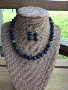 Dark blue necklace