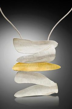 Contemporary Necklace | Curly Bark 5 Necklace: Lori Gottlieb: Gold & Silver Necklace - Artful Home