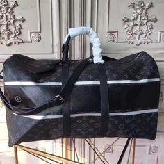 Louis Vuitton M43413 KeepAll Bandoulière 45 Monogram Eclipse Flash Louis  Vuitton Mens Bag a096861d8f6b0