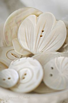 Vintage Carved MOP Buttons | by Second Twirl