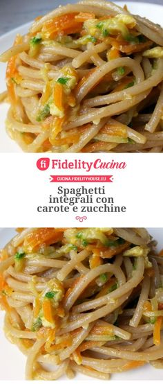 Spaghetti integrali con carote e zucchine Track your fitness goals with an activity tracker or fitness wearable. Pasta Recipes, Cooking Recipes, Planning Menu, Vegetarian Recipes, Healthy Recipes, Pot Pasta, Le Diner, Italian Pasta, Linguine