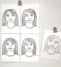 "So, I gave each student a piece of paper that measured 6x9"".  For the older grades, I took the opportunity to teach them facial proportions, and for the younger grades (3rd & 4th) I just gave a quick demonstration and let them draw their portrait without the ""rules"" of proportion.  Next, I showed them how to heavily mark their drawing with pencil lead, turn it over, and rub the back of the paper with a scissor handle.  Then, when their image transfers, they outlined their drawing with a…"