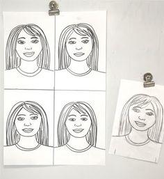 self portrait templates