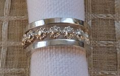 Sterling Silver 3 Ring Posey Set by JulieNeal on Etsy, $45.00