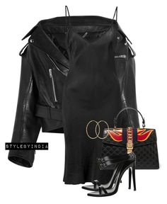 Balenciaga jacket Organic by John Patrick dress Gucci bag and Anthony Vacarrello sandals xx Cute Swag Outfits, Dressy Outfits, Chic Outfits, Girl Outfits, 90s Fashion, Fashion Outfits, Woman Fashion, Balenciaga Jacket, Outfit Sets